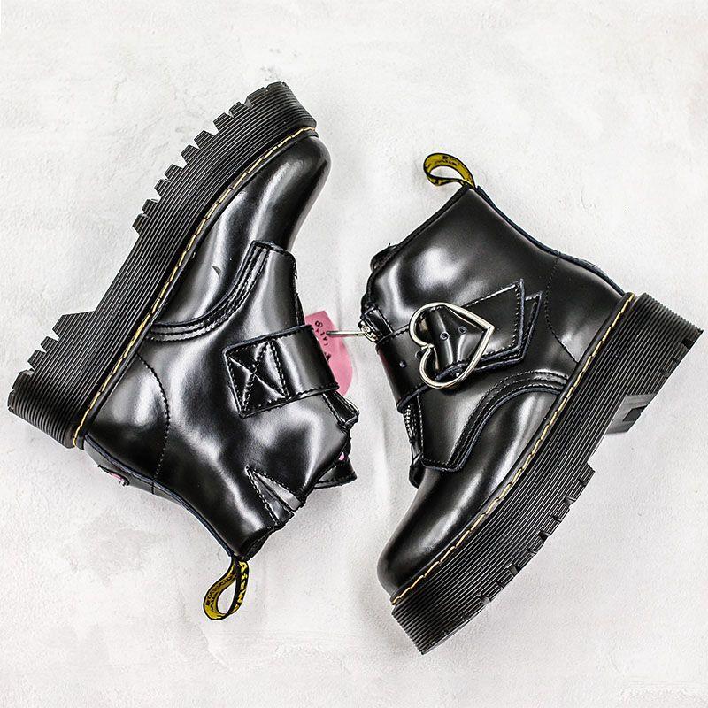 2019 calientes del cuero genuino botas Dr. Martenss X Lazy Oaf de moda de lujo del diseñador para mujeres de la muchacha Marca de arranque zapatillas de deporte casuales 36-40