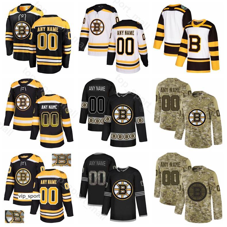 Hockey sobre hielo Boston Bruins 52 Sean Kuraly Jersey 63 Brad Marchand Charlie McAvoy Matt Grzelcyk Matt Grzelcyk Noel Acciari Gradiente de moda