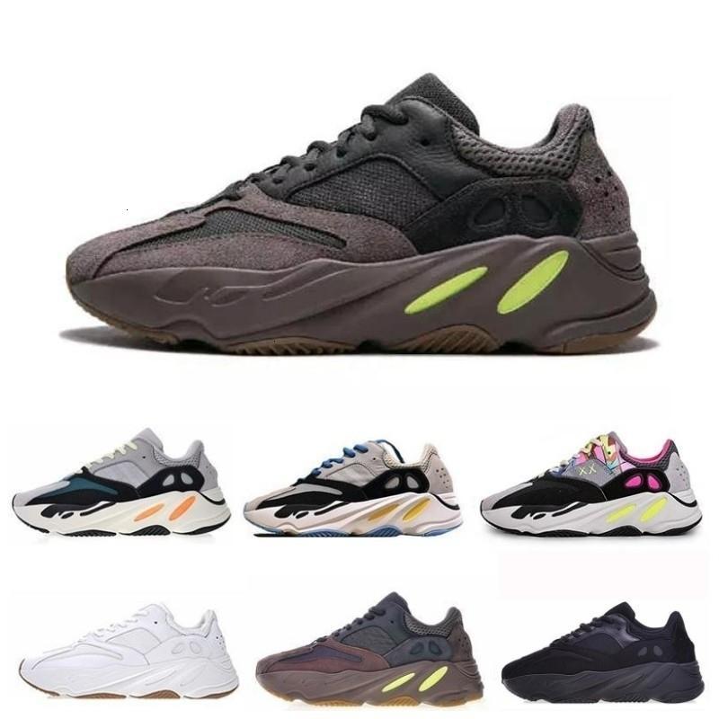 700 2 36 45 corredor da onda malva Inércia Running With Box Kanye West Designer Shoes Homens Mulheres V estáticos Esportes Seankers Tamanho - Outdoor