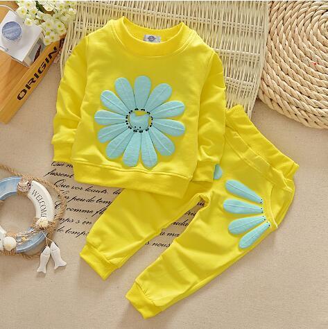 2020 niños ropa de primavera ropa de bebé nuevo traje de niña de las flores femeninas ropa de diseño de 2 piezas chaqueta + pantalones
