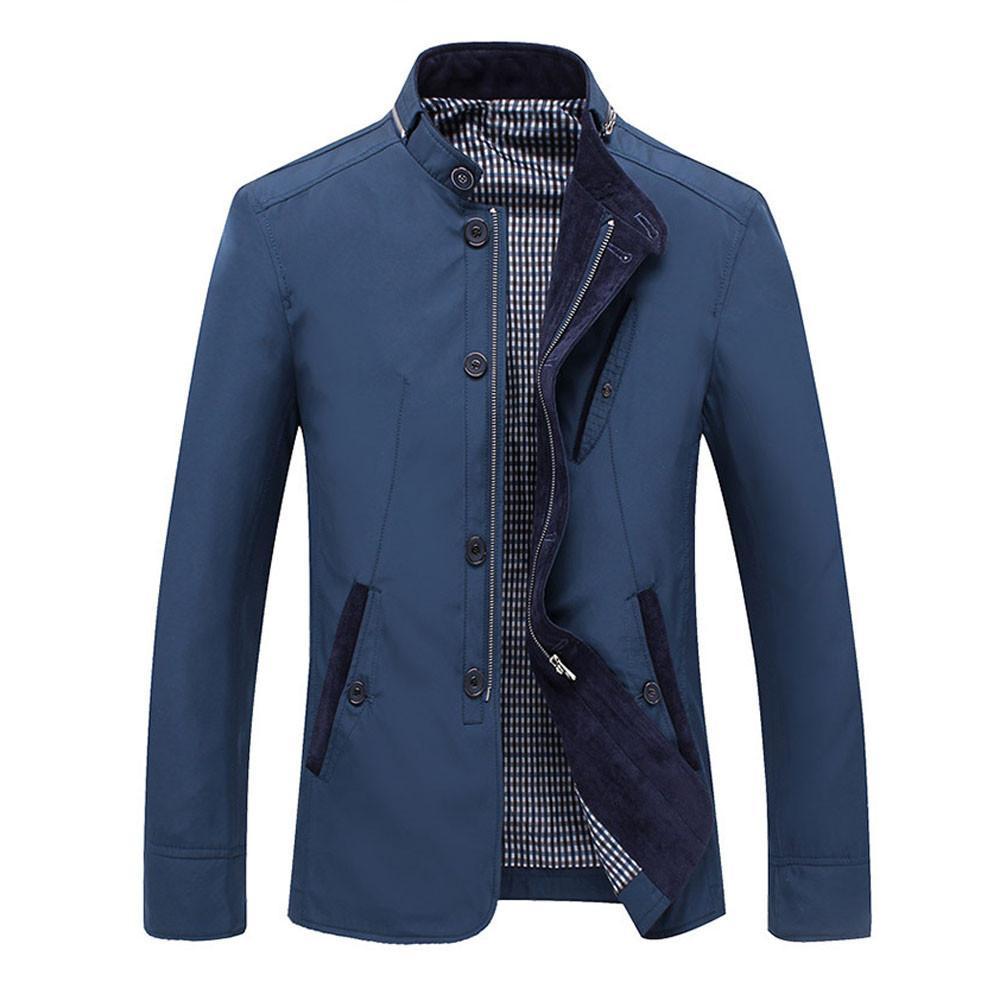 Бренд бомбардировщик куртка армейская форма куртка мужчины стенд воротник мульти-карманы осень пальто мужчины плюс размер 4XL синий