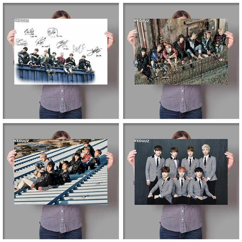 Korea's popular male group bangtan boys life photo art photo home decoration poster hight quality posters canvas painting M502