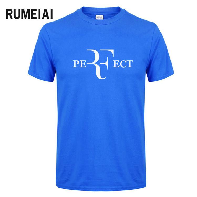Estate Uomo Moda RF Perfect Letters Design maglietta Roger Federer T-shirt manica corta O-Collo Streetwear Tees HipHop Top SN1