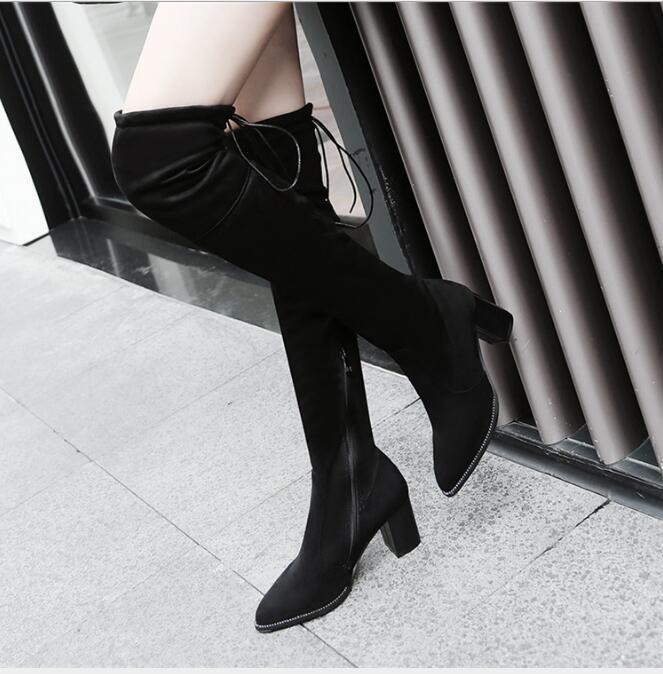Novo tipo de Skinny Elastic botas com botas over-knee, All cor está disponível é o tamanho da não cor adequada para adultos
