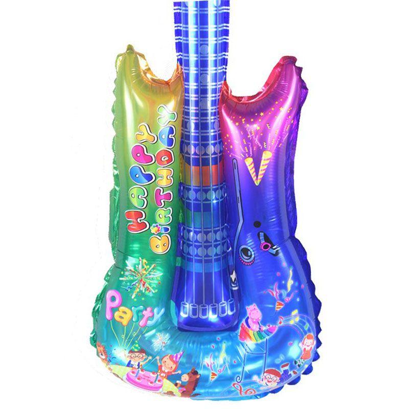 1 piezas inflables aire guitarras multicolor 55 cm guitarra aérea guitarra aérea air guitar