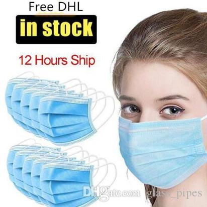 maschere per il viso Usa e getta elastici bocca morbida e traspirante maschera di protezione anti polveri respirabili maschere Cucina nerofumo Mask WY619Q-2