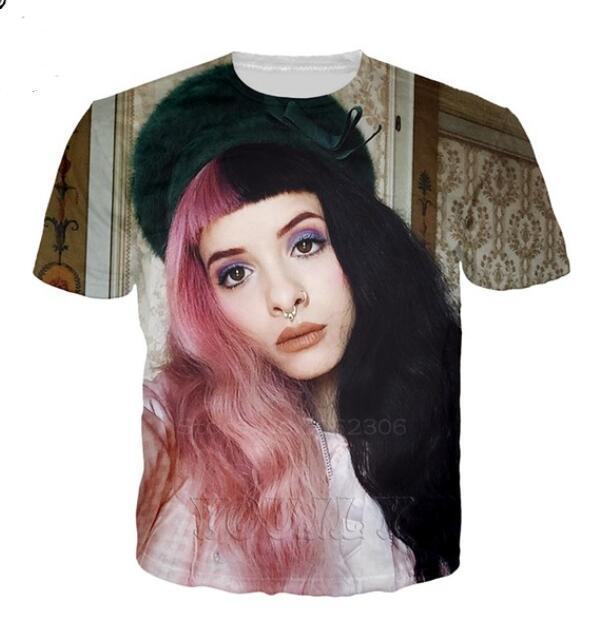 Design di lusso Mens Melanie Martinez magliette maglietta di estate della gru di stampa maglietta di Hip Hop Moda Uomo manica corta Tees Dimensioni T080