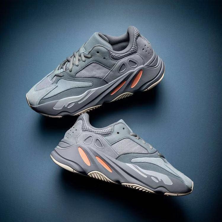 yeezy 700 Канье Уэст бегун на открытом воздухе туфли сиреневые волны мужские женские спортивное лучшее качество 700-тые спортом бег кроссовки обувь дизайнер с коробкой