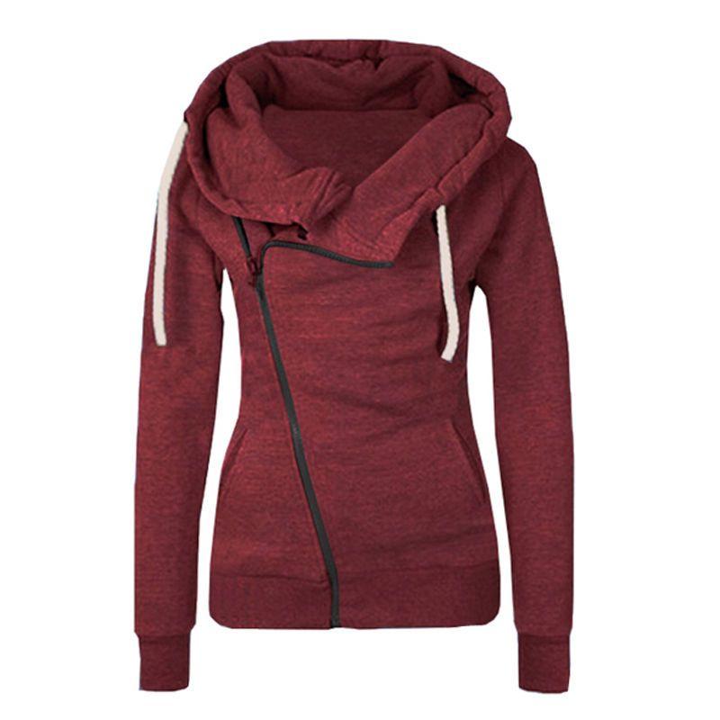 Fermuar Swearshirt Sıcak Fleece Kış Coat Plus Size toptan ile 2019 tasarımcı Yeni Sonbahar Kapüşonlular Kadınlar Casual Suit Kazaklar Kapşonlu