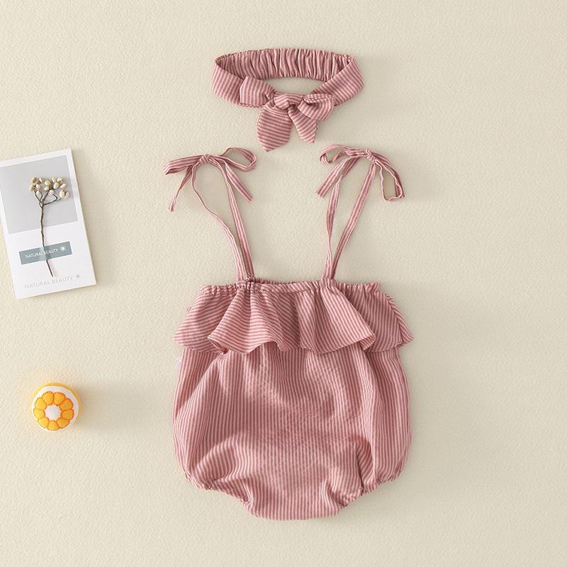 Bebek Tulum Kadın Yaz Yenidoğan Kayış İnce Çanta Fart Romper Aylık Bebek Üçgen Romper