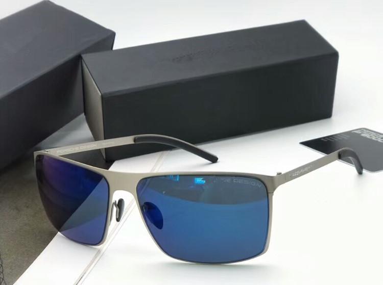 2020 الأحدث P8667-كبيرة مستطيلة الاستقطاب النظارات الشمسية النظارات الذكور 64-16 كامل حافة الصيد القيادة غوغل مع التعبئة كامل تعيين