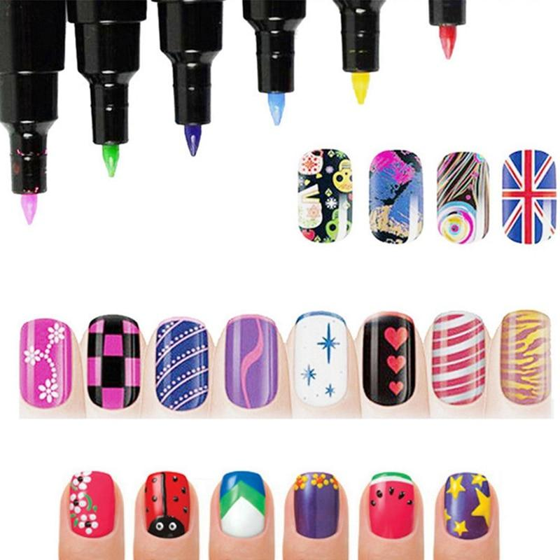 16 Candy Colors Nail Art Stift für 3D Nail art DIY Dekoration Polish Stift Set 3D Design Schönheit Werkzeuge Farbstifte
