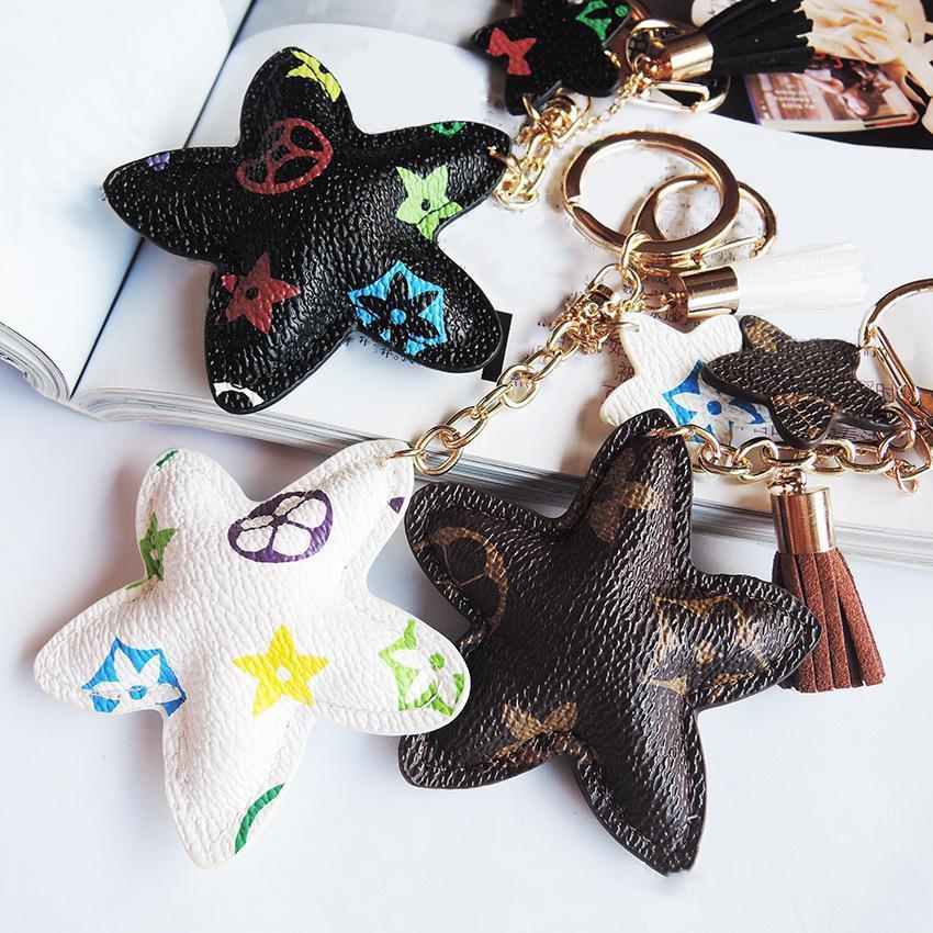 New Brand Keyrings PU cuoio ciondolo borsa charms carino regalo di moda portachiavi portachiavi portachiavi fiore cane giraffa gioielli auto portachiavi accessori
