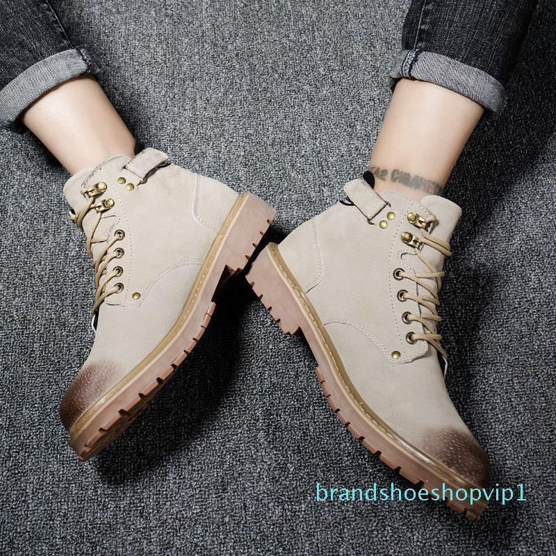 Caliente Caliente Venta-Martin botas de invierno botas de vaquero Bota Gris Marrón Ocio Martín zapatillas de deporte para hombre de diseñadores de moda 40-44