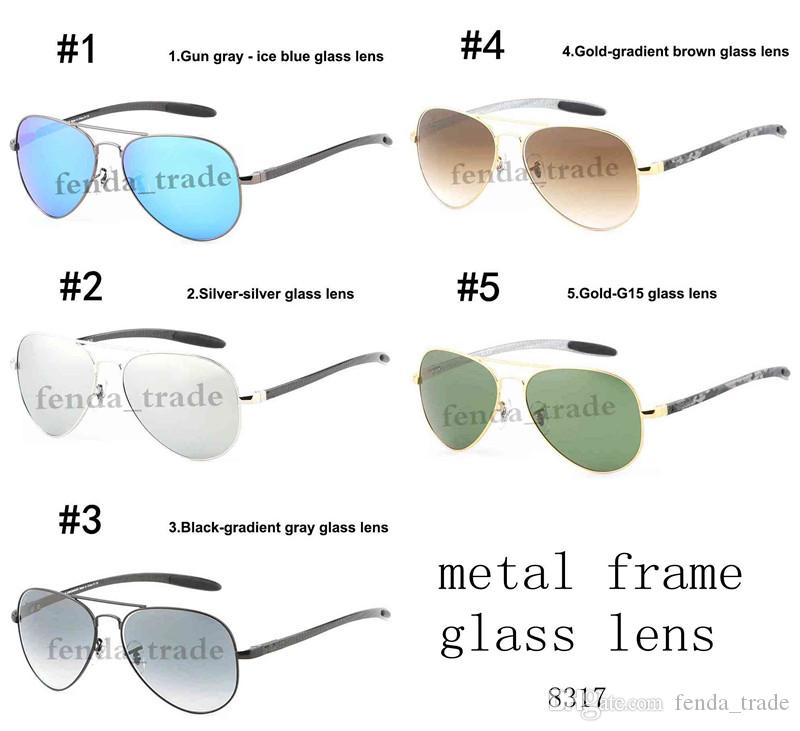 2019 Men Women glass sunglasses men summer fishing vintage retro metal frame sunglasses UV400 brand sunglasses Quality A+++