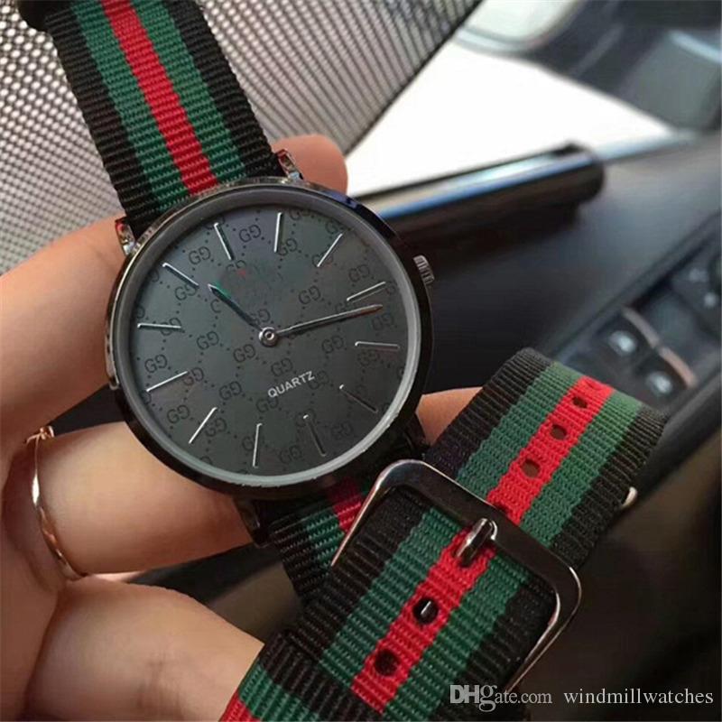 Men watches new arrivals nylon fashion sports quartz watch for Man leisure military watch Simple Clock Relógio feminino Montre hom