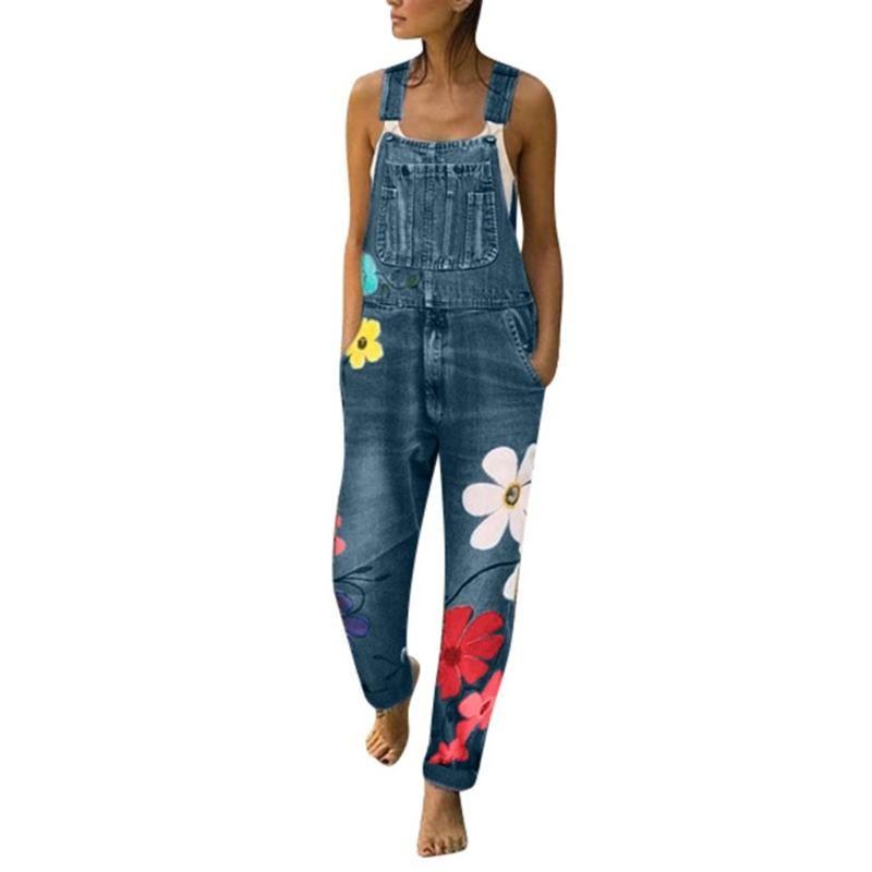 Women Overalls Spring Autumn Pants Fashion Denim Bib Pants Sexy Long Rompers Bib Jumpsuits 2 Colors