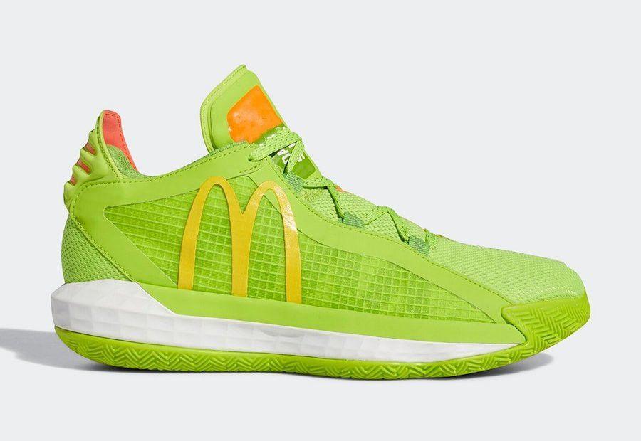 Kutu Dame 6 Spor Ayakkabıları ile 2020 Dame 6 McDonalds Dame Sos hecklers PAKETİ Şok Sarı Damian Lillard All Star Erkekler Basketbol Ayakkabıları