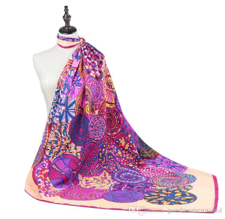 Nuova Belle Sciarpe Europa e le nuove signore geometriche cerchio modello della sciarpa 130 * 130 centimetri grande piazza 2pieces sciarpa / lot