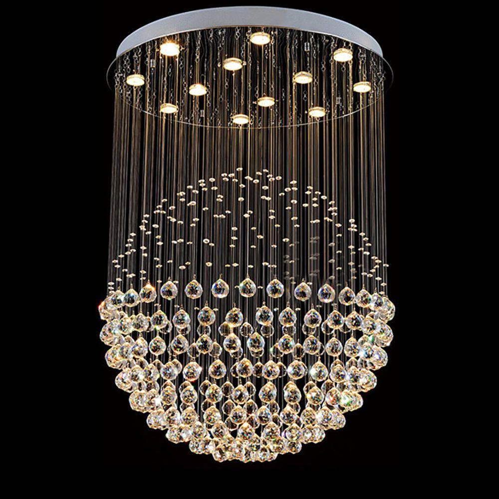 Kristall-Kronleuchter Beleuchtung runde Kugel-Design Licht für Wohnzimmer Schlafzimmer Restaurant Hallendecke Kronleuchter Küchenlampen