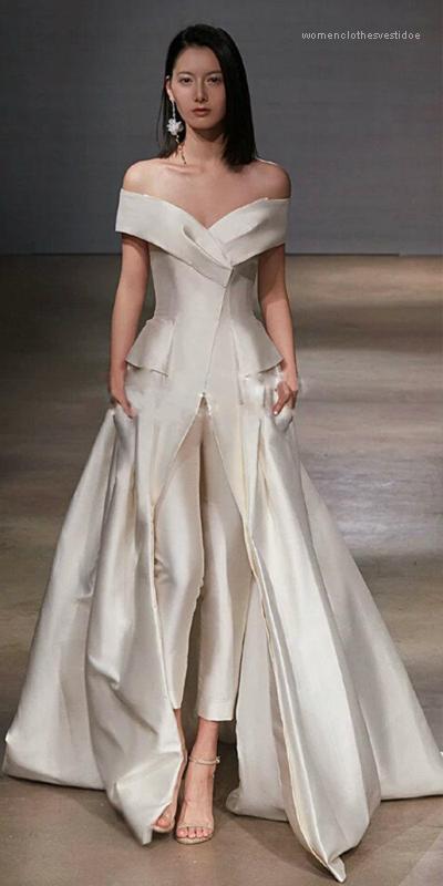 الصيف مثير سبليت أنثى الملابس أزياء الأبيض نمط عارضة الملابس النسائية حفلات الزفاف انن ماكسي فساتين حمالة