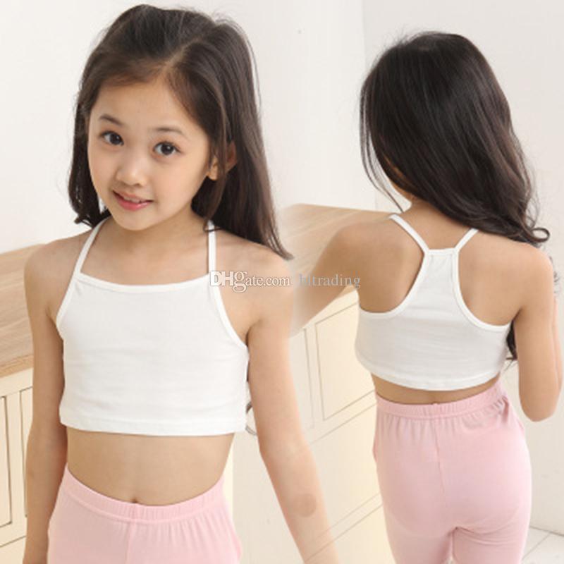 أطفال مصمم ملابس الفتيات تانك الأعلى القطن الأطفال حبال الصدرية 2019 الصيف تيز الملابس الداخلية الأزياء بوتيك الاطفال الملابس C6661