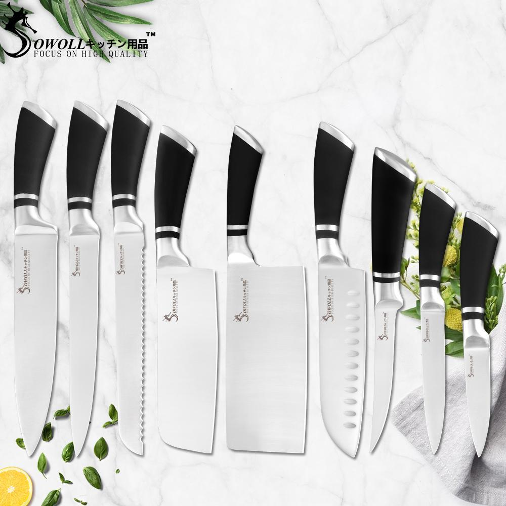 Japanese Stainless Steel Kitchen Knives Set Chef Slicer Bread Chopping Santoku Boning Utility Fruit Home Cooking Knife