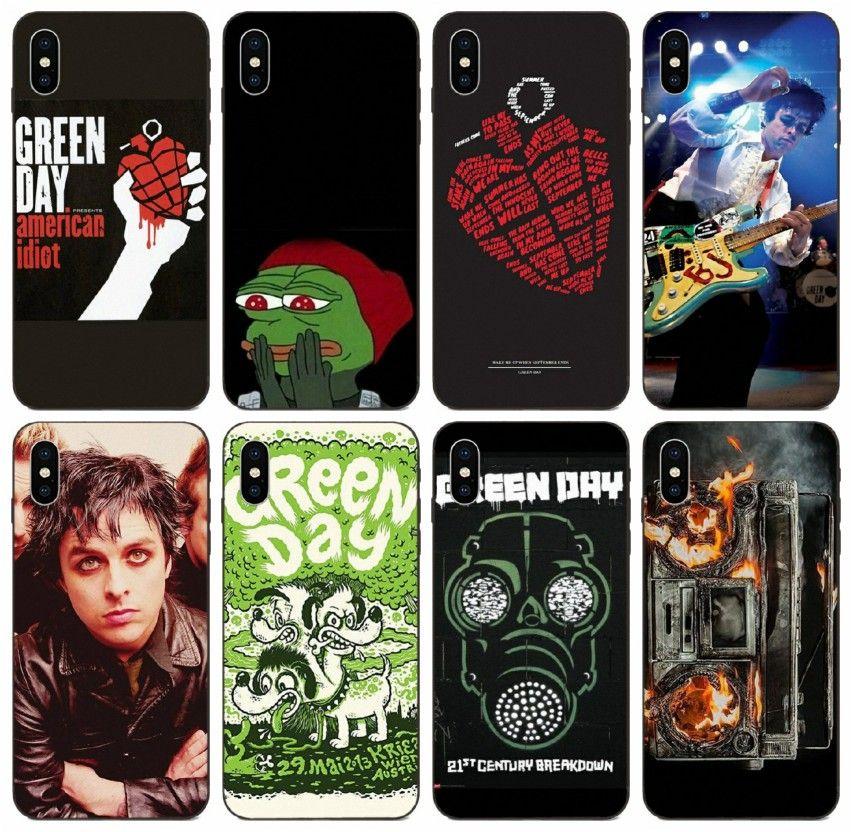 Caso Green Day [TongTrade] Banda de Música del álbum iPhone Para 8s 7s 6s XS Plus X 11 Pro Max Samsung J7 J5 Huawei GR3 GR5 redmi 3 1Pcs Caso Pro