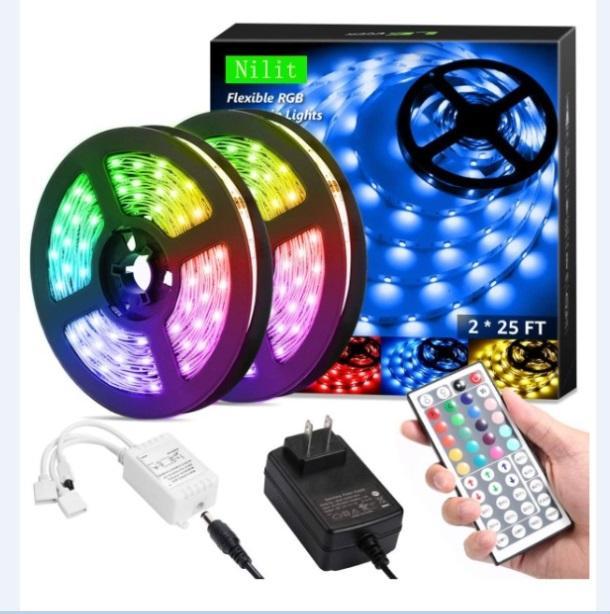 Flexible RGB-Licht-LED-Streifen-Beleuchtung RGB 16.4ft / 5m SMD 5050 DC12V Flexible Les-Streifen Lichter 50LED / Meter 16Different statische Farben
