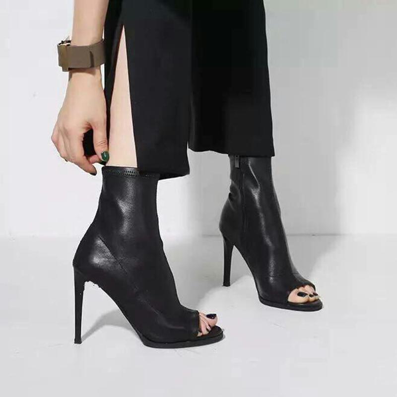 peep toe gladiator boots