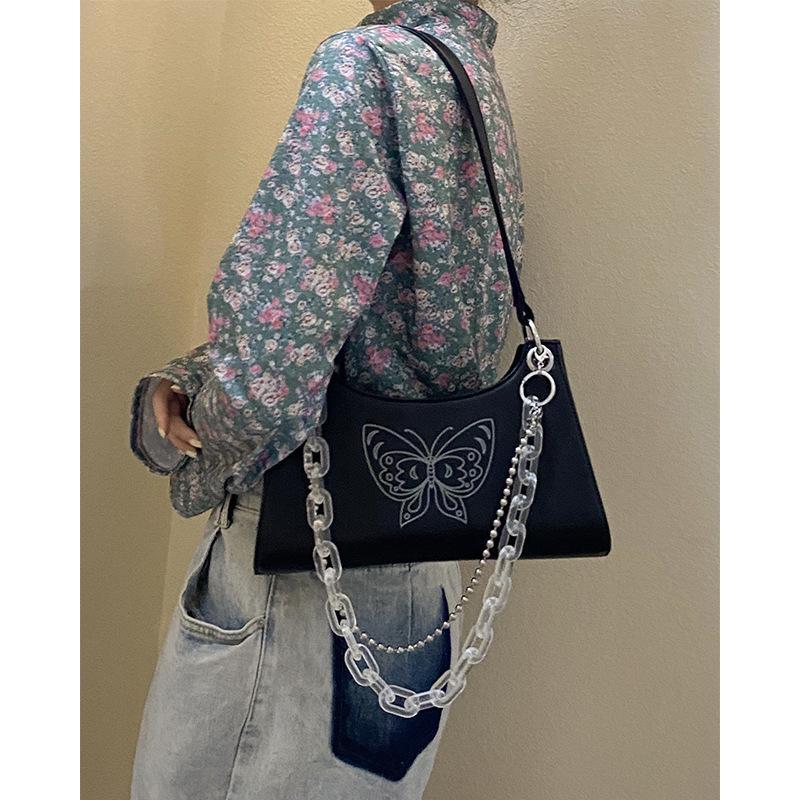 Frauen Achsel Bag 2020 All-Gleiche Transparent Kette Umhängetasche Persönlichkeit Handtasche