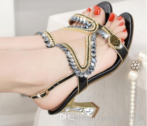 2019 Sandales pour femmes en été avec nouveau style Perceuse à eau à talon haut et talon aiguille @ 66