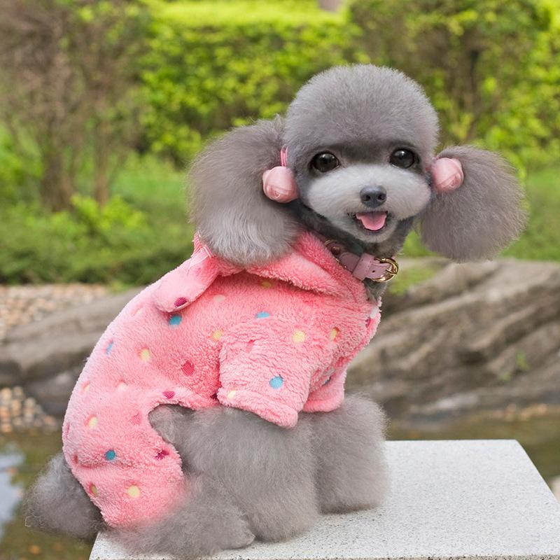 Colour Circle Point Gogo Clothes Autumn And Winter Poodle Winter Clothes Puppy Than Golden Bear Mao Youquan Pets Bipod Four The Foot.