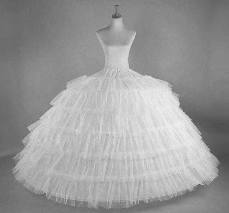 Cheap Polffy Soverskirt Bridal Ball Gown Petticoats Crinoline per il vestito formale di cerimonia nuziale Plus Size Petticoat da sposa 6 Gonna di hoops in magazzino
