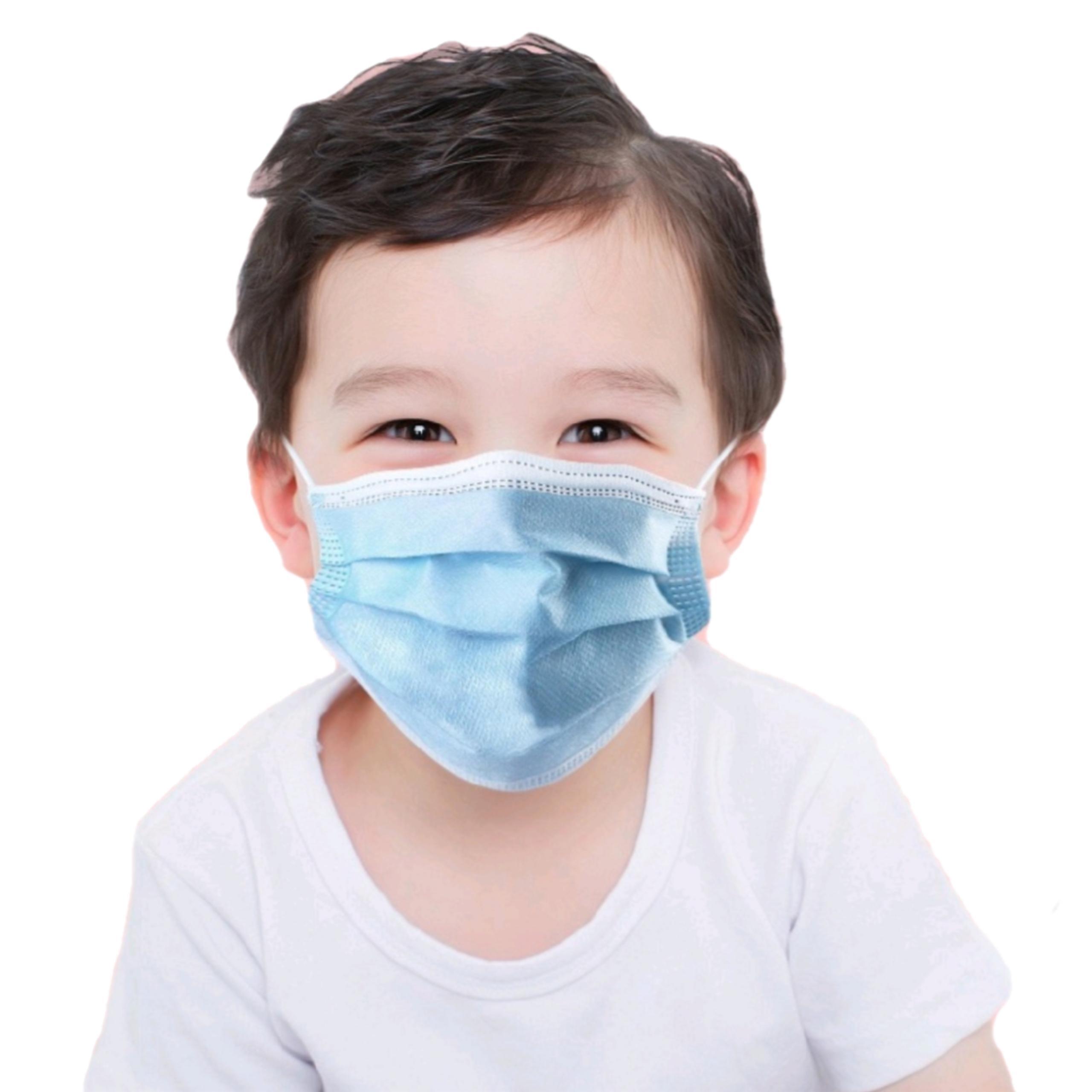 DHL Verschiffen 3 Schicht Einweg-Elastic Kinder Gesicht Mund-Maske Anti-Staub atmungsaktiv Blau weichen Hygiene Kind Kinder Gesicht Drop shipping Maske
