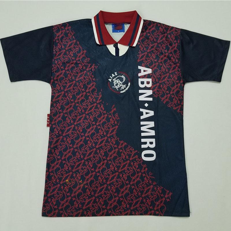 Ajax 95 away Retro soccer jerseys KANU LITMANEN DAVIDS KLUIVERT 1995 Classic football uniform Custom customization
