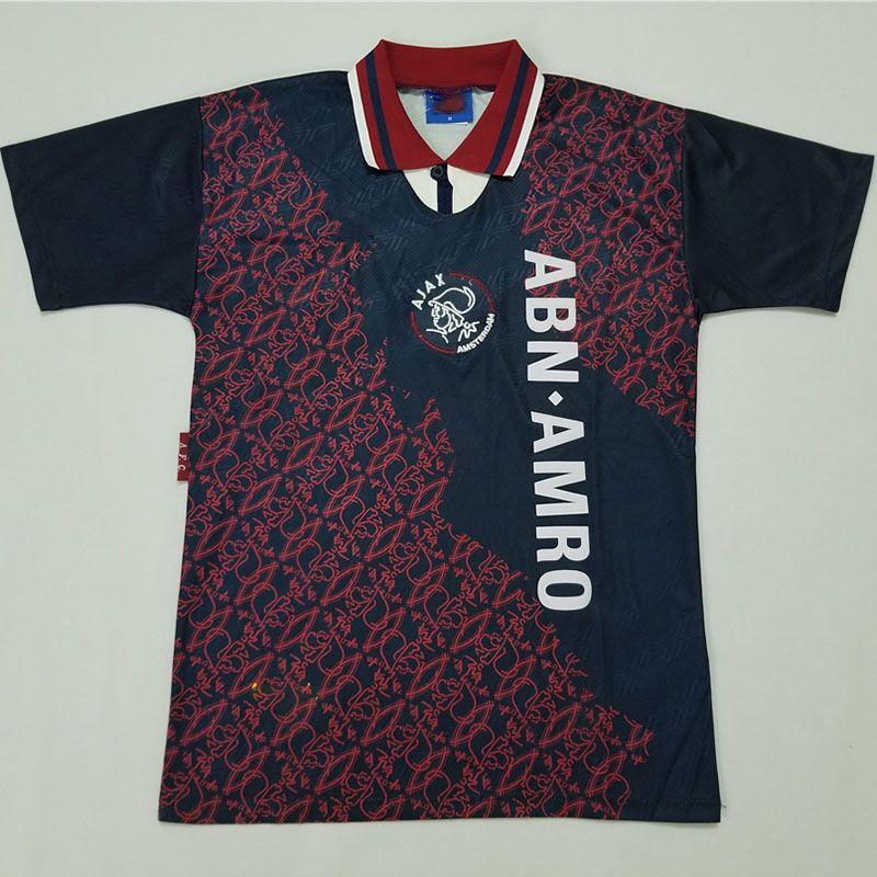 Ajax 95 weg KANU Litmanen DAVIDS Kluivert 1995 Klassische Fußball-Uniform Individuelle Anpassung Trikots Retro Fußball