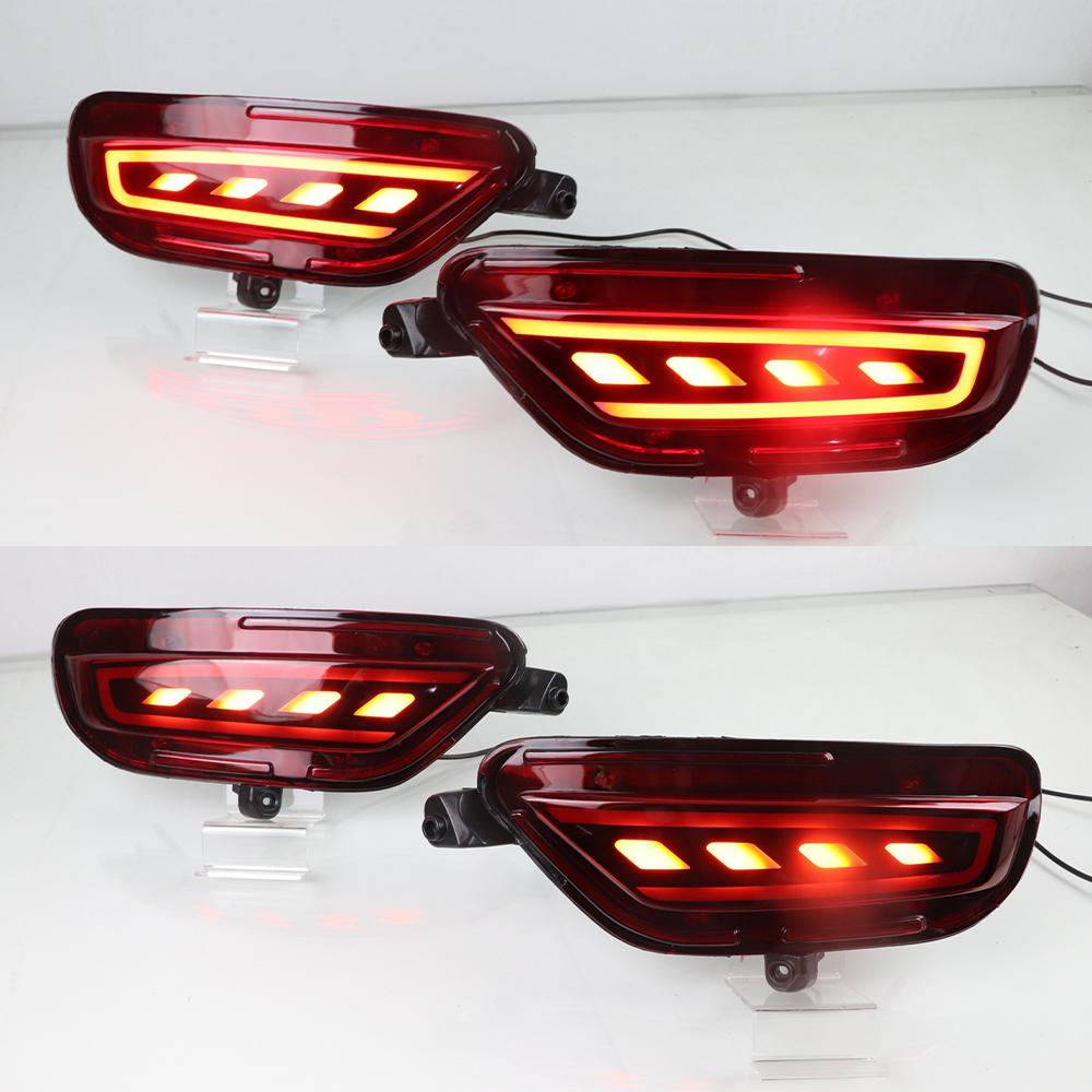 1Pair LED 리플렉터 후면 안개 램프 자동차 LED 범퍼 라이트 브레이크 라이트 2017 2018 2019 신호에 대한 마즈다 CX5 CX5을 돌려