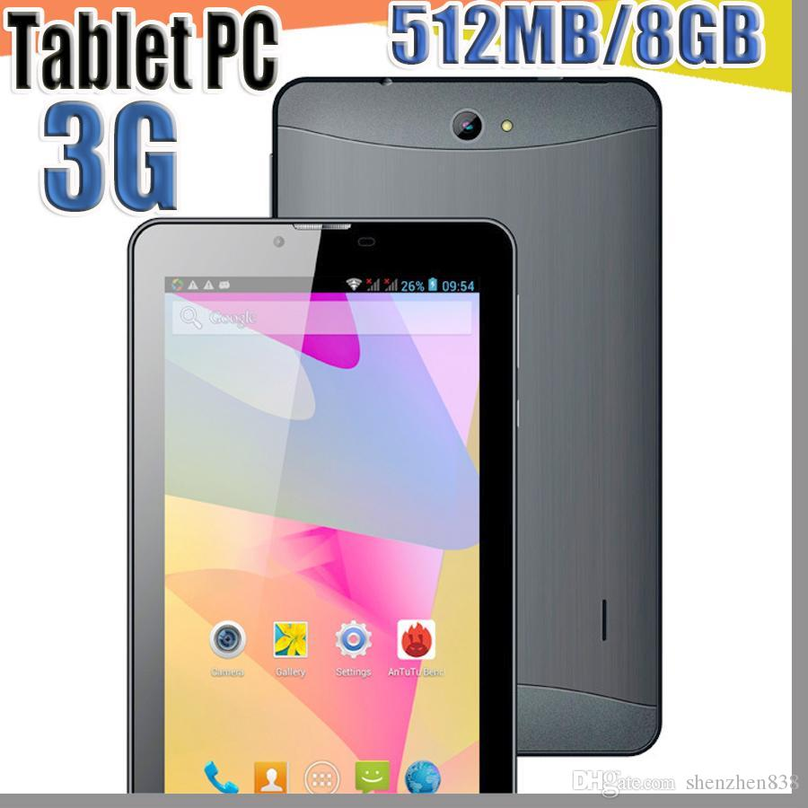 838 tablet pc 7 inch 3G Phablet Android 4.4 MTK6572 Dual Core 512MB 8GB Dual SIM GPS Phone Call WIFI Tablet PC cheap china phones B-7PB