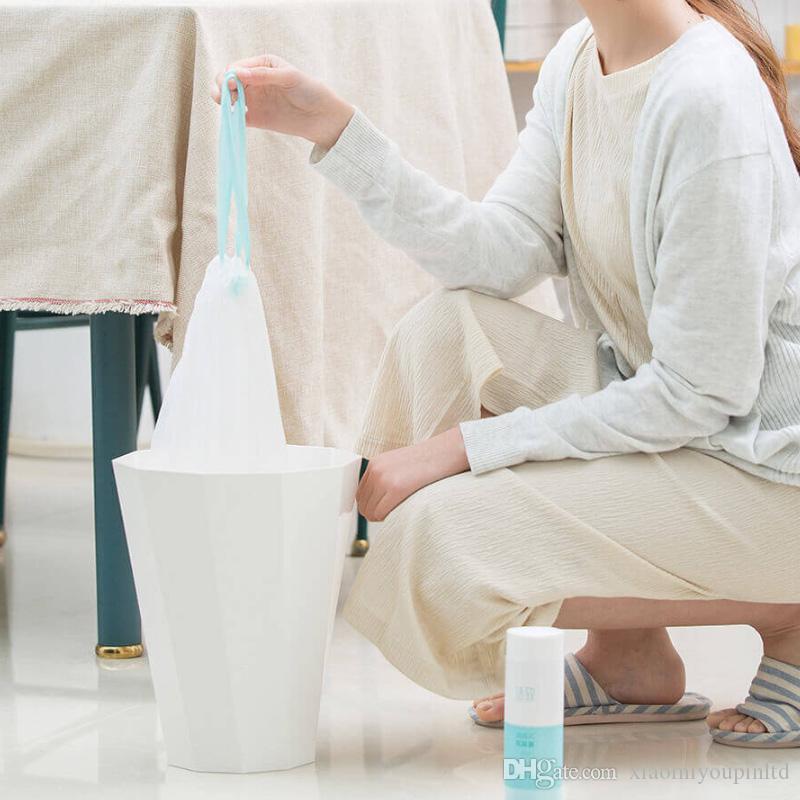 المهملات الأصلي XIAOMI Youpin التوتير ثخن مطبخ المنزلية التلقائي يمكن صندوق القمامة القمامة كيس من البلاستيك 20PCS / LOT 3005755