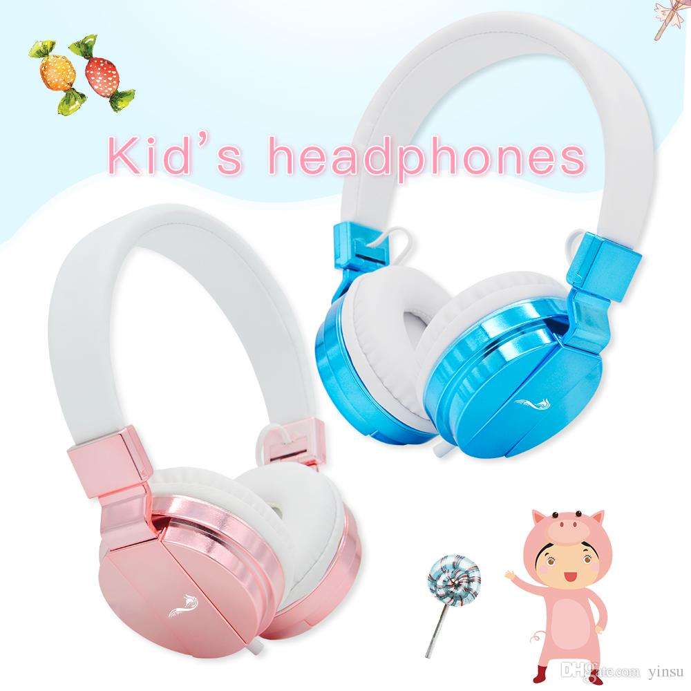 Soundfox Kids Headphones Stereo Headset For Children Boys Girls Teens Music Earphone Wired Earphone With Mic For Iphone Smartphone Pc Laptop Best Cheap Earbuds Bluetooth Devices From Yinsu 32 16 Dhgate Com