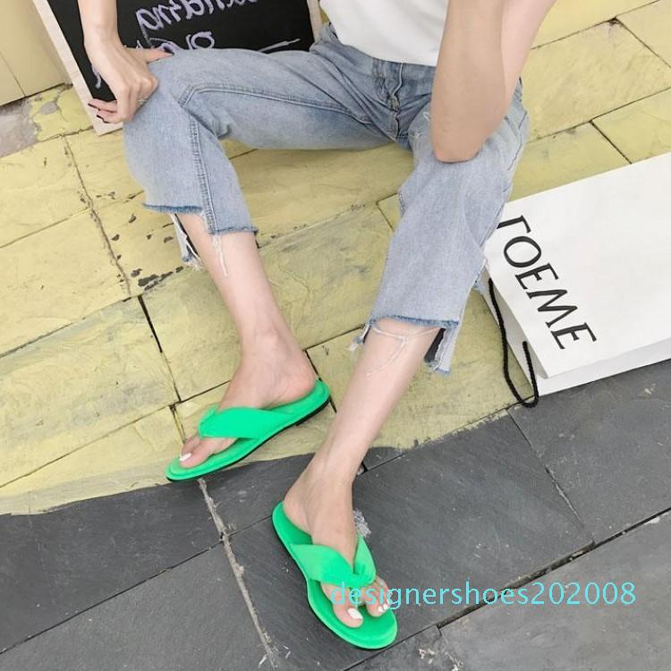 Goddess2019 Flat Pinch Bottom Flip Flops Soft Toe Fluorescence Shai Ping With Woman Cool Slipper d08