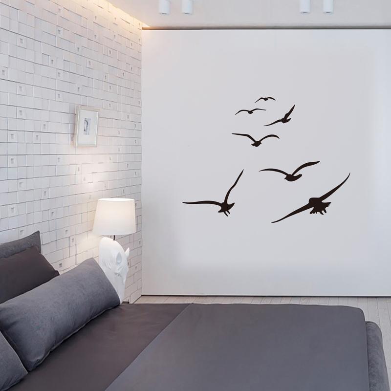 Хонк Стая птиц стены стикеры Гостиная Спальня Главная Фон Diy украшения Mural искусства Переводные картинки Резные Наклейки