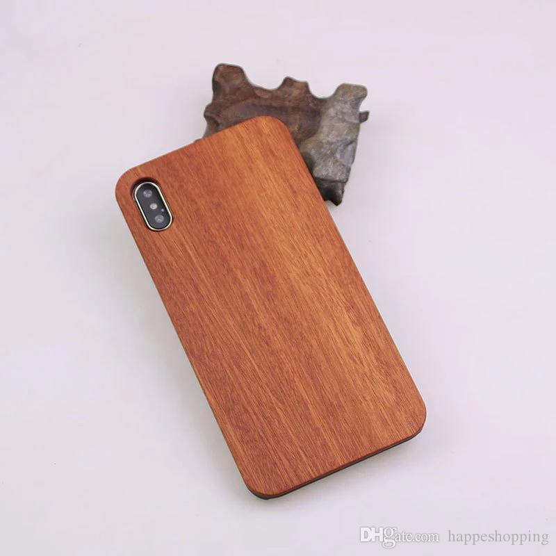 حقيقية خشبية + هارد حالة PC الهاتف لسامسونج غالاكسي ملاحظة 9 8 S9 S8 زائد S7 S6 حالات الحافة