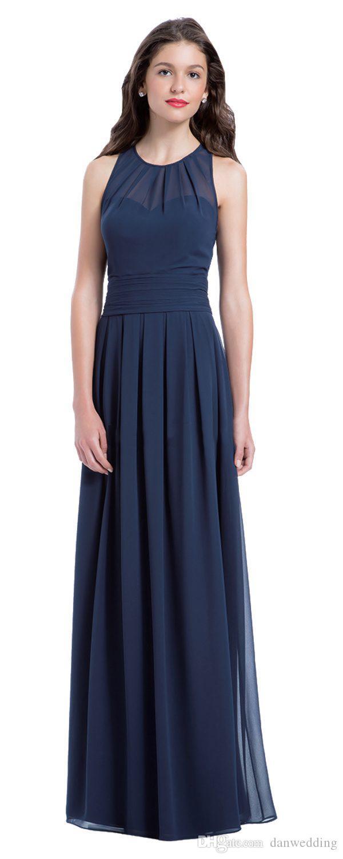 Beauty Blue Chiffon Jewel Junior Bridesmaid Dresses Bridesmaid Wedding Dresses Party Prom Dresses Custom Size 2-18 KF101427