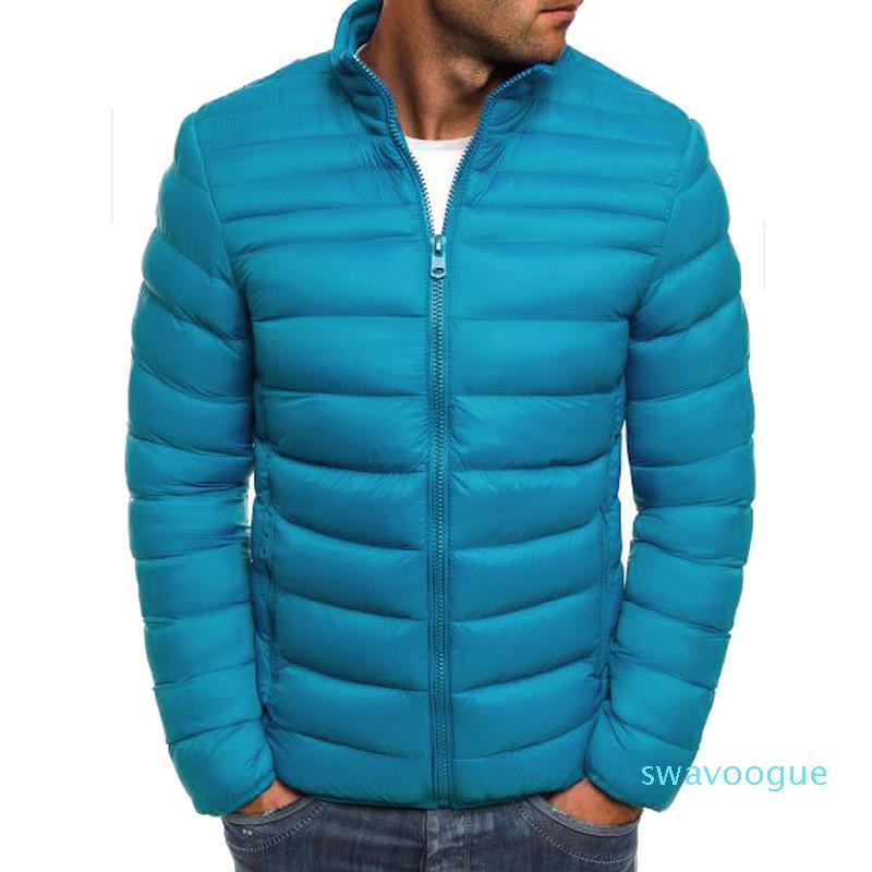 Mens Solid Designer giacca invernale manica lunga breve riscaldamento parka con cerniera spessore Mens casuale cappotti Wulong