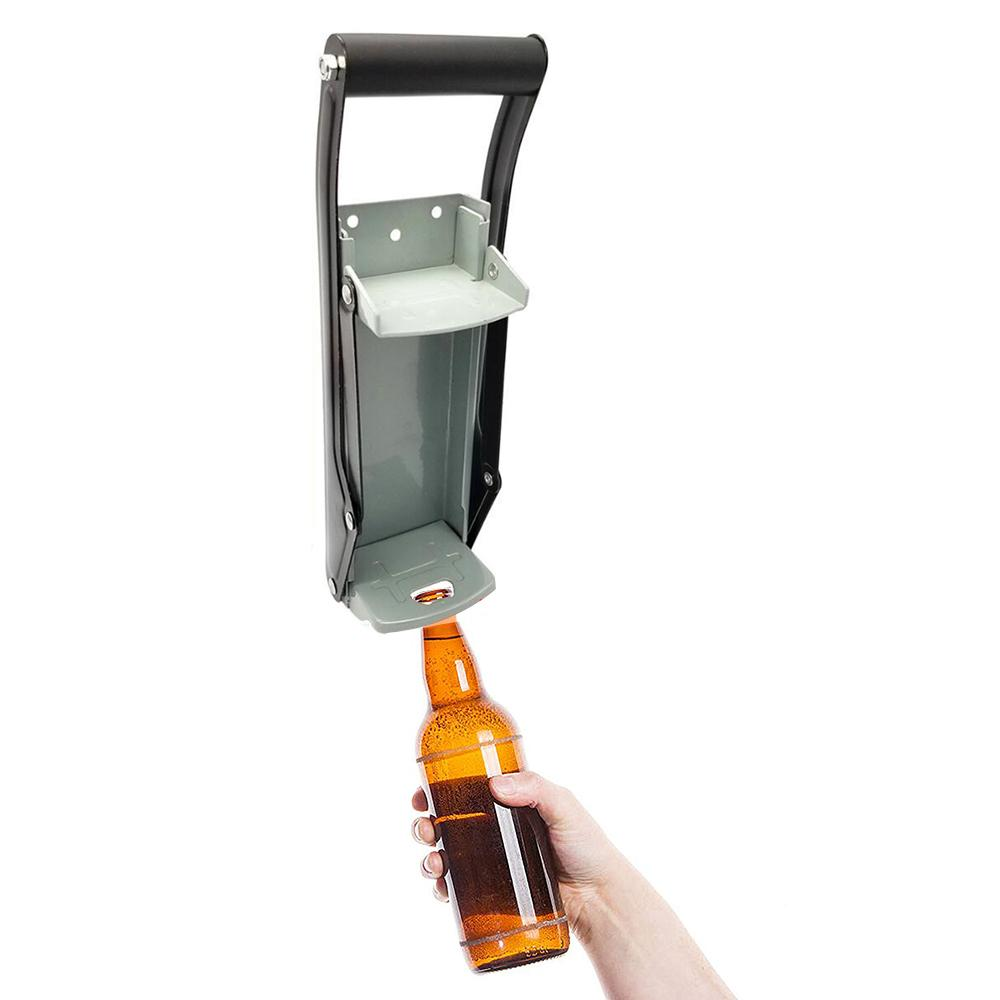 Multifunktion Haustyp 16 Unzen Wand befestigte Hand drückt Bier Getränkedosen Flaschenöffner Eisen Crusher Recycling-Werkzeug Zubehör Y200405