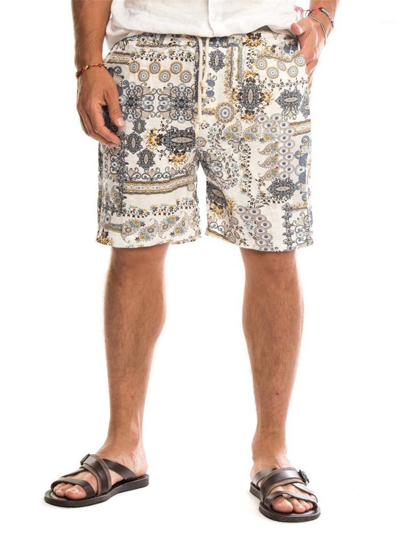 السراويل سروال رقصة البولكا نقطة المطبوعة نمط شاطئ الركبة طول السراويل عارضة ملابس رجالي مصمم رجالي الصيف