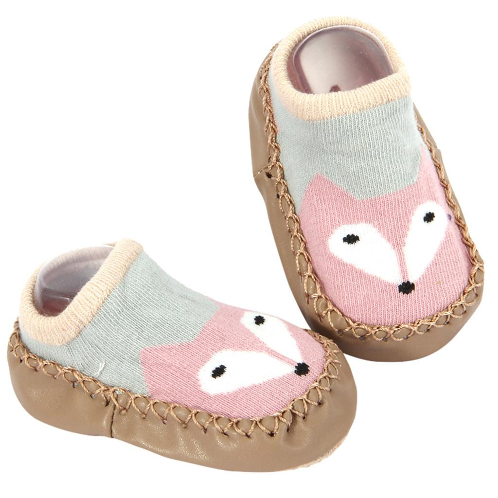 Newborn Baby Booties Socks Soft Breathable Cotton Shoes KV