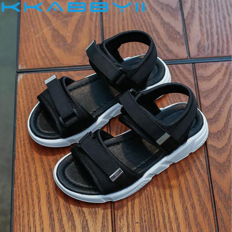 Мальчики сандалии летние кроссовки детская обувь Infantil Мальчики пляжные сандалии повседневная мода мягкие плоские туфли размер 26-36